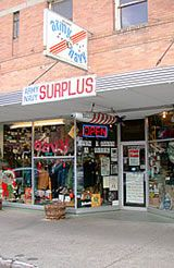 Billings Army Navy Surplus: Original store location for 31 years