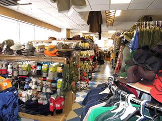 Work wear: A small glimpse of the finished store.