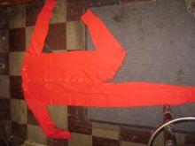 Red Union Suit - Cotton
