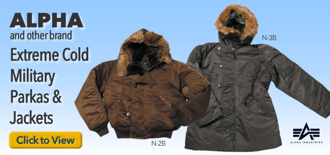 Alpha Parkas to keep warm in cold winters