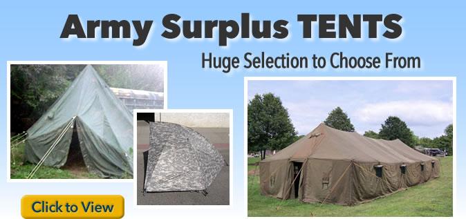 Army Surplus Tents