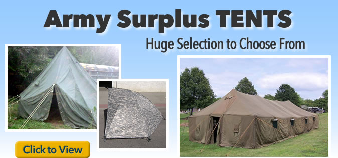 Army surplus tents
