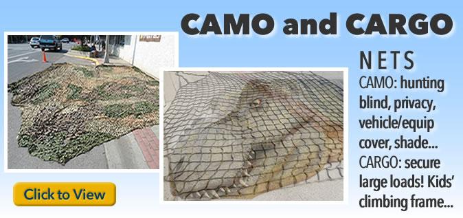 Camo Nets and Cargo Nets