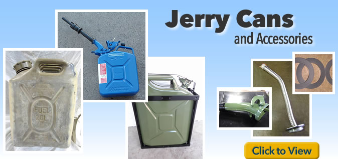 Surplus NATO Jerry Cans and Accessories