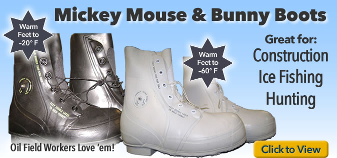 Mickey Mouse Boots and Bunny Boots