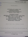 Power Plant AN/MJQ-25 Generator Set (M103A3) Technical Manual