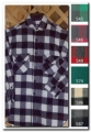 Mens Long Tail Wool Shirt - Gray and Black Plaid