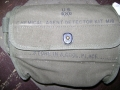 WWII U.S. Army Gas Mask Test Kit Bag
