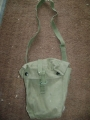 English Army Canvas Gas Mask Bag with Shoulder Straps