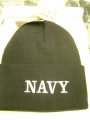 Navy Black Watch Cap
