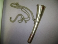 Brass Whistle with Chain