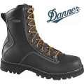 Danner Quarry 2.0 Plain Toe Black Work Boots