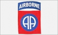 82nd Airborne Flag (white)