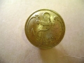 Brass Button with Anchor - 25 mm
