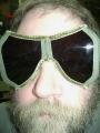 German Folding Tanker Goggles