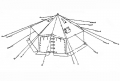 17' GP Small Canvas Tent with Poles - New