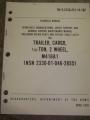 Cargo Trailer (M416A1) Technical Manual