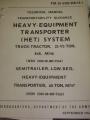 Heavy Equipment Transporter (HET) System Manual
