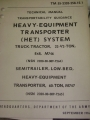 Heavy Equipment Transporter (HET) System Manual