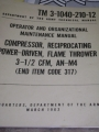 Flame Thrower Compressor Manual