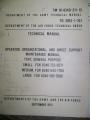 General Purpose Tents Technical Manual