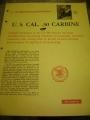 U.S. .30 Caliber Carbine (MI) Booklet