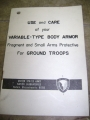 Use and Care for Variable-Type Body Armor