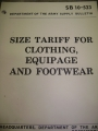 Size Tariff for Clothing, Equipage, and Footwear Supply Bulletin