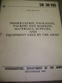 Preservation, Packaging, Packing things used by Army Bulletin