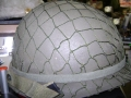 U.S. Military Steel Pot Helmet Set with Fish Net