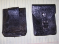 Small Black Leather Pouch