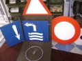Swiss Military Road Sign Markers