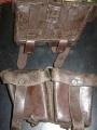 Vintage European Leather Ammo Pouches