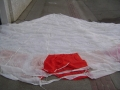 Chinese Military 24′ Red and White Parachute