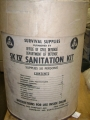 U.S. Civil Defense SK IV Sanitation Kit Barrel (empty)
