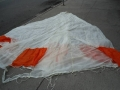 Chinese Military 24′ Diameter Orange/White Parachute