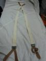 WWII British Cotton/Leather Suspenders
