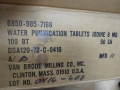 U.S. Military Vietnam Era Water Purification Tablets