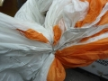 U.S. Navy 81.6′ Diameter Orange/White Parachute Canopy