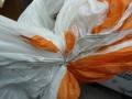 U.S. Navy 81.6′ Diameter Orange/White Parachute Canopy