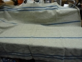 Czech Military Blue Stripe Wool Blanket