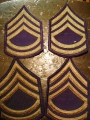 U.S. Army E8 Master Sergeant Rank (Dress Blues)
