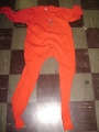 100% Cotton Red Youth Union Suit