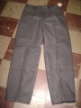 West German Military Wool Pants - Charcoal