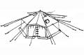 10-Man Arctic Tent, Used, NO Poles