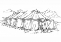 18x52 Tent with Poles (Used)