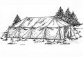Brand New G.P. Medium Tent w/ Poles - 16x32x5 - Waterproof
