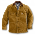 Carhartt Sandstone Chore Coat (Brown) - Blanket Lined