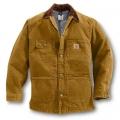 Carhartt Sandstone Chore Coat (Brown) - Blanket Lined