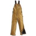 Carhartt Duck Bib Overall (Brown) - Arctic Quilt Lined